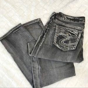 Silver Jeans Suki Flap Skinny Bling Sz W29 L31